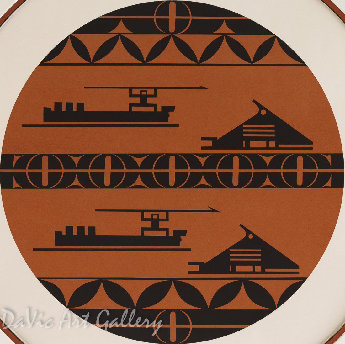 Whaler's Drum by Joe David 1980 - Northwest Coast - Nuu-chah-nulth