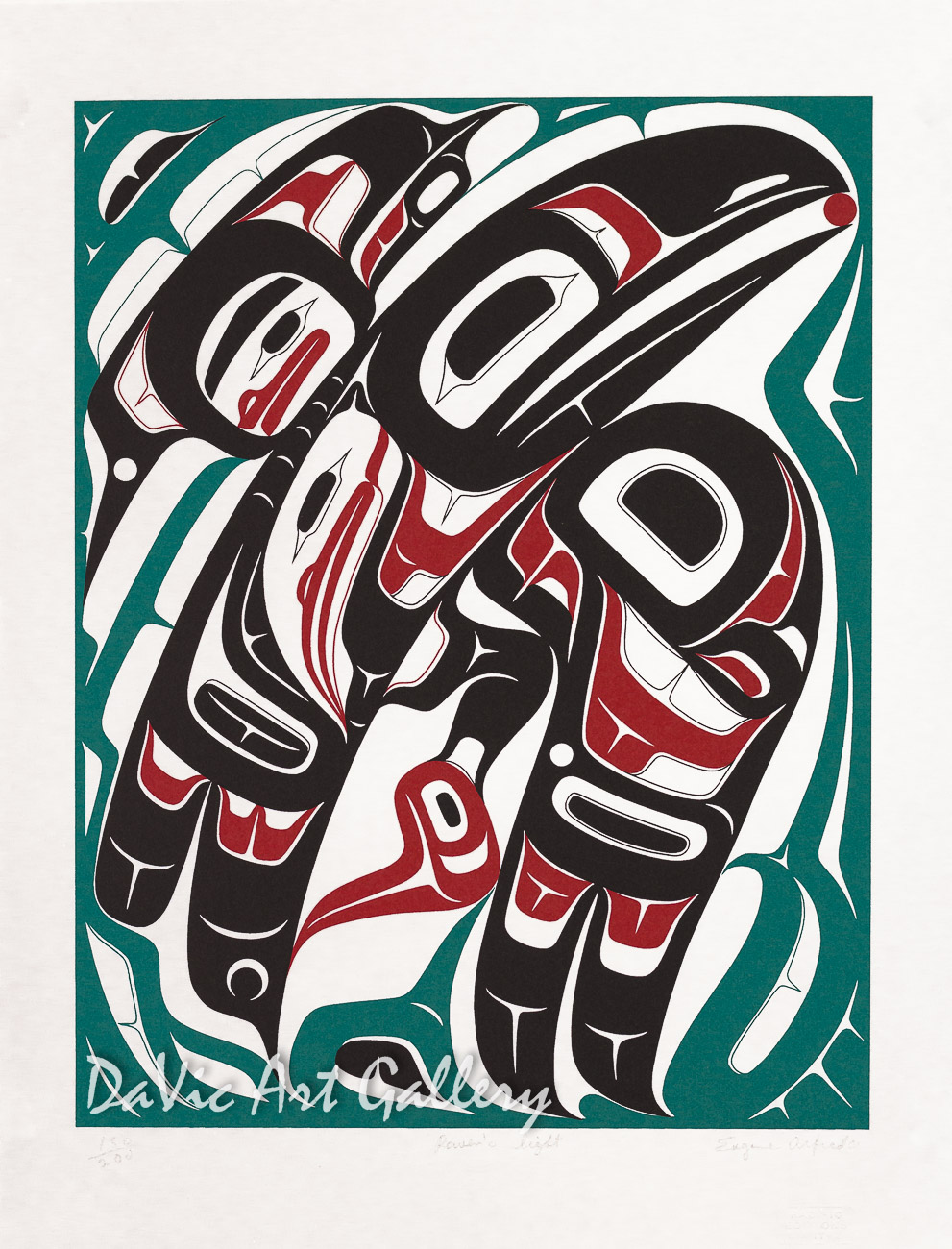 Raven's Light by Eugene Alfred 2001 - Northwest Coast - Tlingit