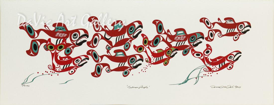 'Salmon People' by Mark Preston - Northwest Coast - Tlingit 2007
