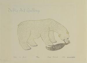 """Bear and Seal"" by Kovinaktilliak Parr - Inuit - Cape Dorset 1973"