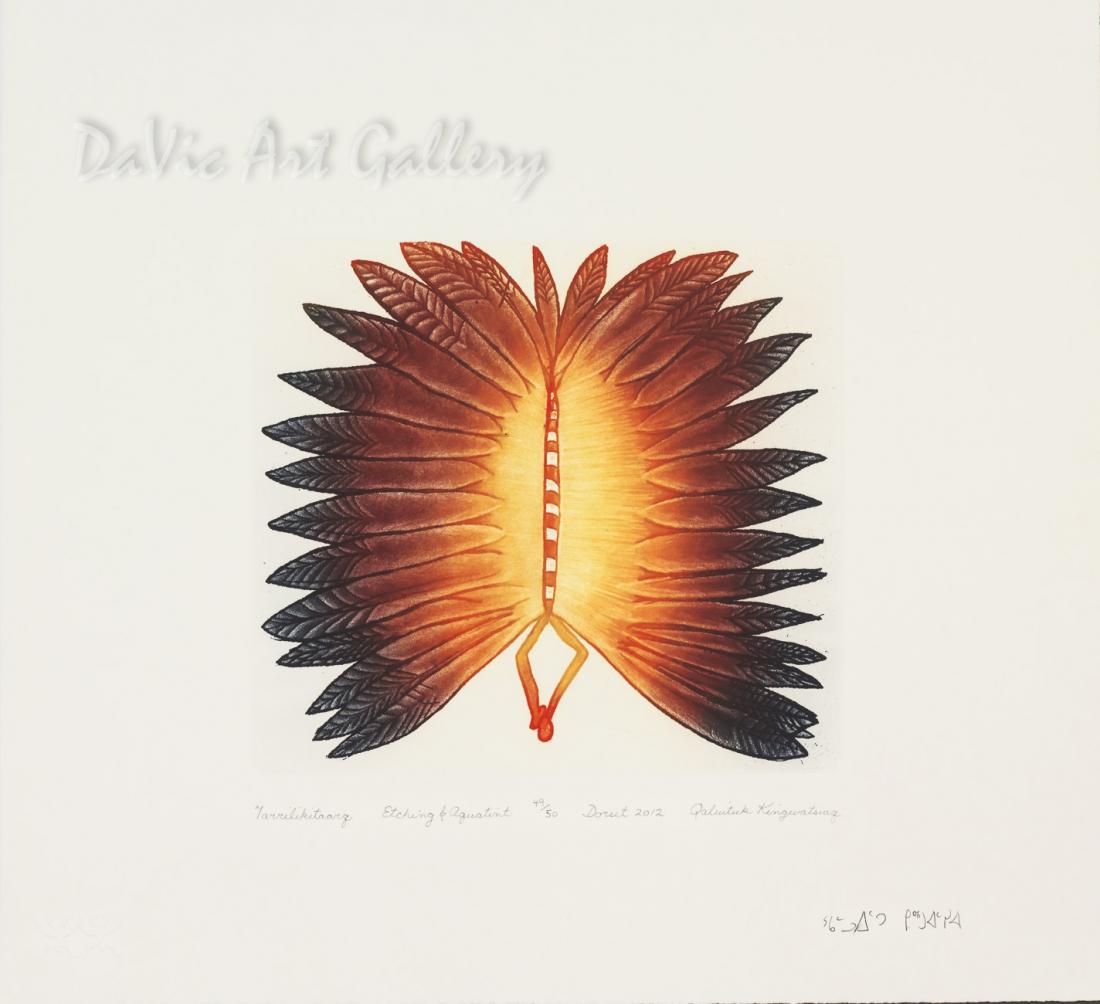 """""""Tarrilikitaarq (Butterfly)"""" by Qaluituk Kingwatsiak - Inuit - Cape Dorset 2012"""