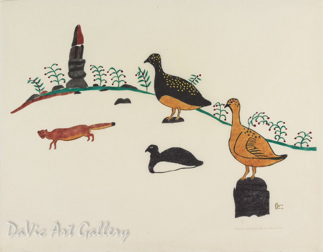 """Autumn"" by William Noah - Inuit - Baker Lake 1973"