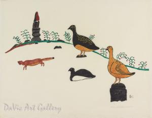 """Autumn"" by William Noah - Inuit - Baker Lake 1973"