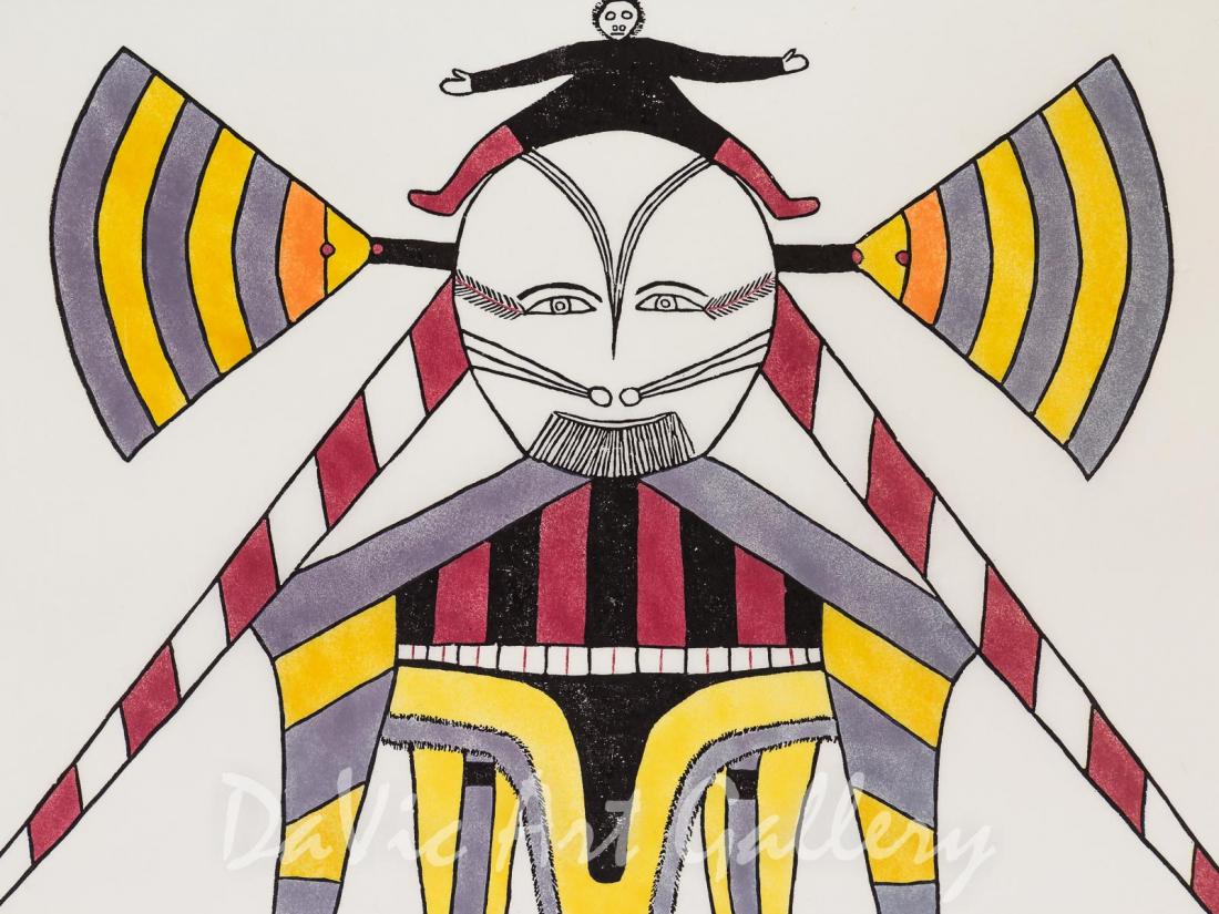 """""""Big Woman"""" by Jessie Oonark - Inuit - Baker Lake 1974"""
