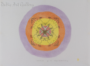 """Inuit Mandala"" by Marjorie Esa - Inuit - Baker Lake 1985"