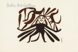 """""""Mother Earth"""" by Kenojuak Ashevak - Inuit Art - Cape Dorset 1961"""
