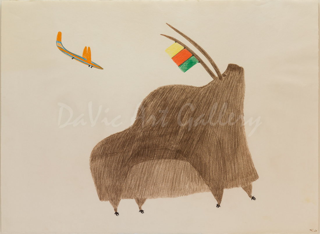 """Changing World"" by Pudlo Pudlat - Inuit - Cape Dorset 1980"