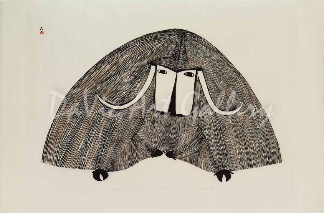 """""""Our Massive Friend"""" by Pudlo Pudlat - Inuit - Cape Dorset 1984"""