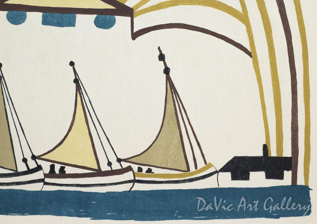 """Protective Harbour"" by Pudlo Pudlat - Inuit - Cape Dorset 1985"