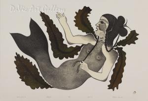 """Empress of the Sea"" by Pitaloosie Saila, RCA - Inuit - Cape Dorset 1991"