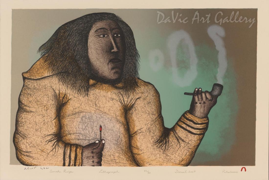 """Smoke Rings"" by Pitaloosie Saila, RCA - Inuit - Cape Dorset 2007"