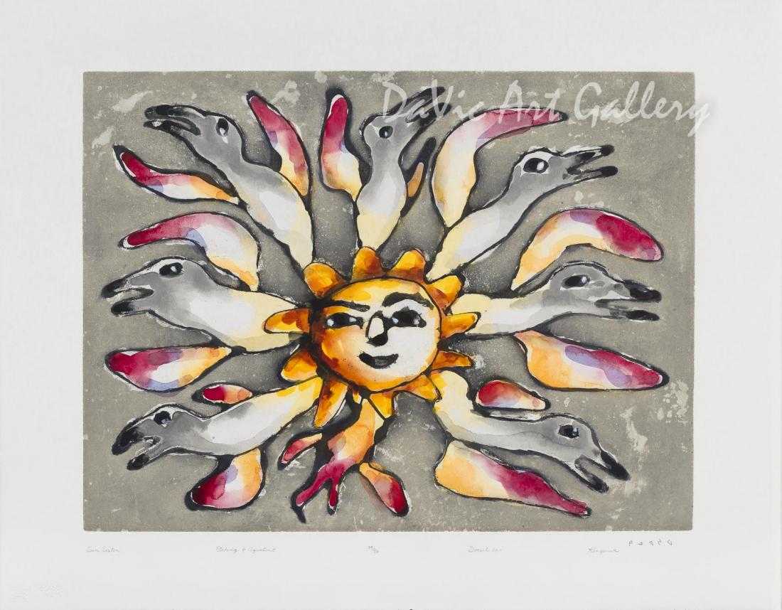 """""""Sun Sister"""" by Kenojuak Ashevak - Inuit Art - Cape Dorset 2011"""