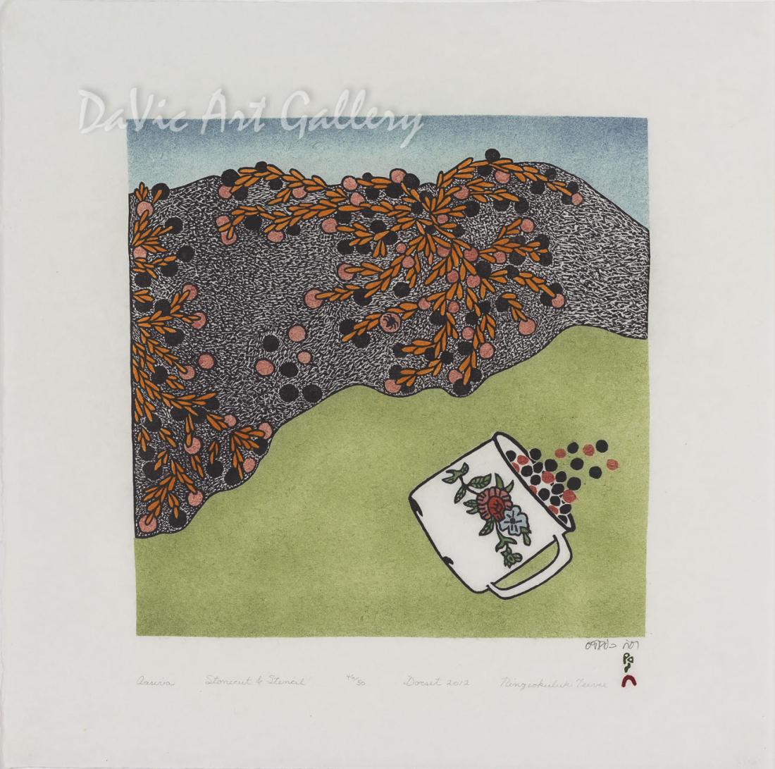 """""""Aasiva (Spider)"""" by Ningeokuluk Teevee - Inuit - Cape Dorset 2012"""