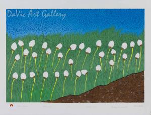 """Cotton Grass"" by Nicotye Samayualie - Inuit - Cape Dorset 2013"