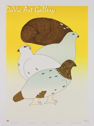 """Four Seasons"" by Ningeokuluk Teevee - Inuit - Cape Dorset 2013"
