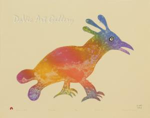 """Luminous Bird"" by Malaija Pootoogook - Inuit - Cape Dorset 2015"