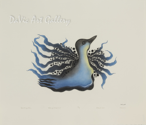 """Sparkling Loon"" by Pitaloosie Saila, RCA - Inuit - Cape Dorset 2015"