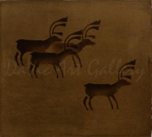 """Caribou"" by Johnny Novalinga - Inuit - Puvirnituq 1978"