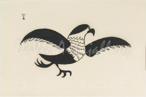"""""""Running Gull"""" by Napachie Pootoogook"""