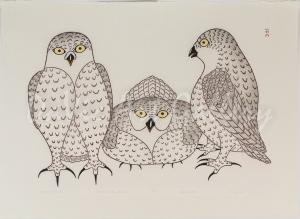 """Conference of Owls"" by Kananginak Pootoogook"