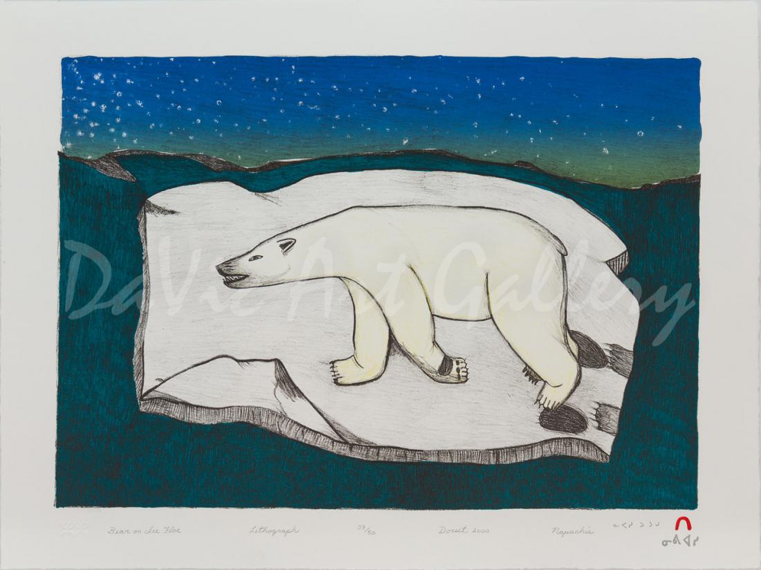 'Bear on Ice Floe' by Napachie Pootoogook
