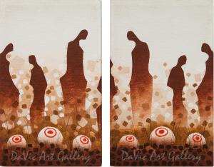 'Grandfather Stones' by First Nations Ojibway artist James Simon Mishibinijima