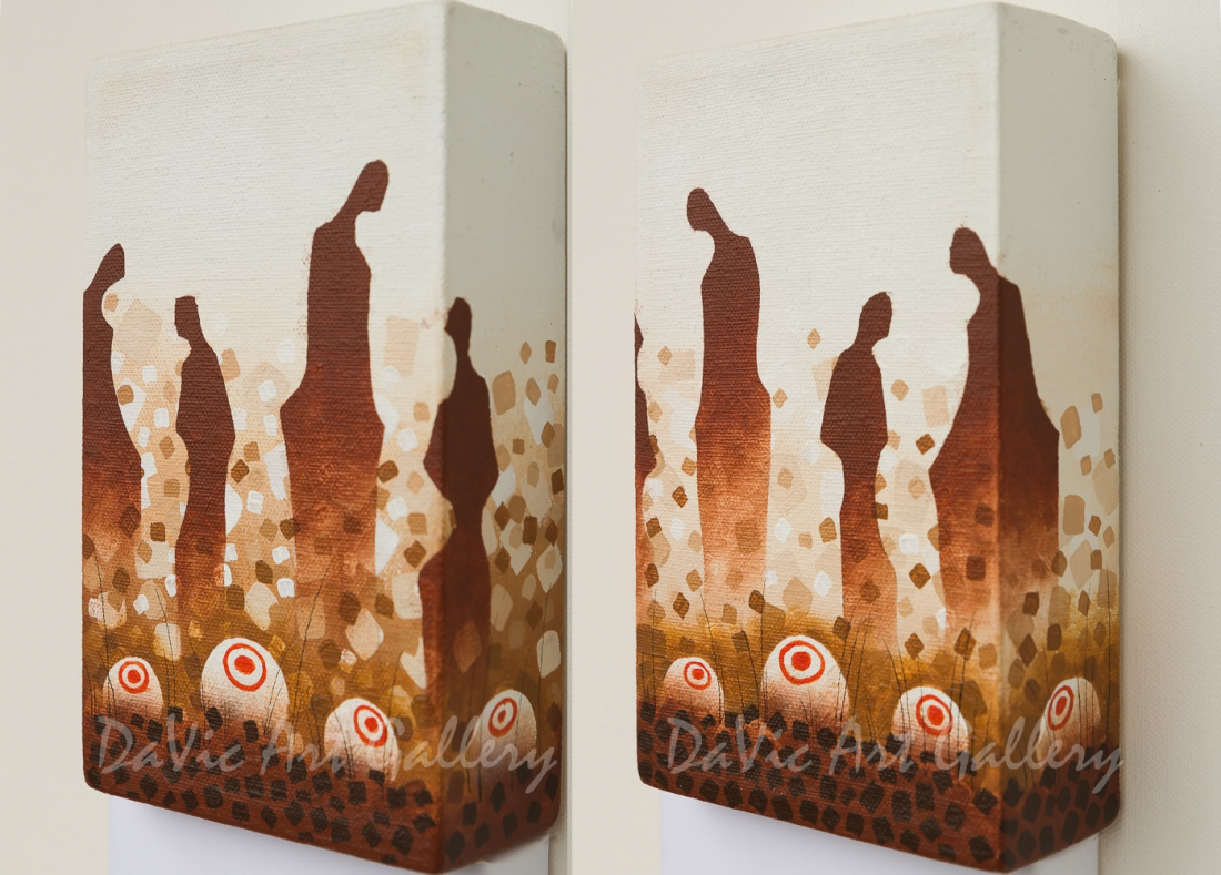 'Grandfather Stones' by James Simon Mishibinijima - Woodland Art - Tabletops