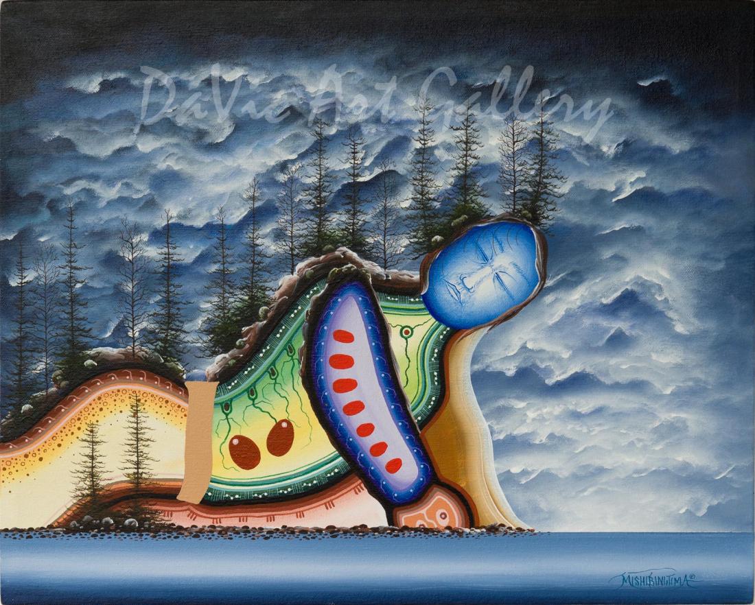 'Black Stone' Mishmountain by First Nations Ojibway artist James Simon Mishibinijima