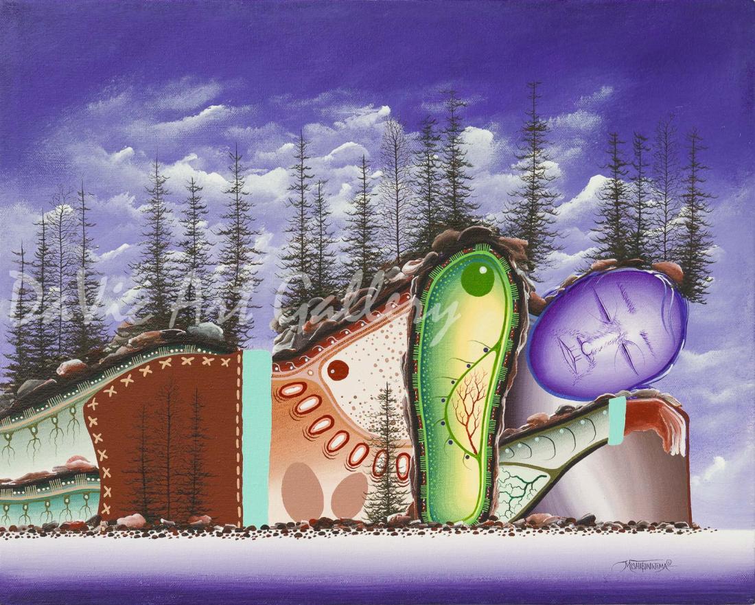 'Blueberry Hill' Mishmountain by First Nations Ojibway artist James Simon Mishibinijima