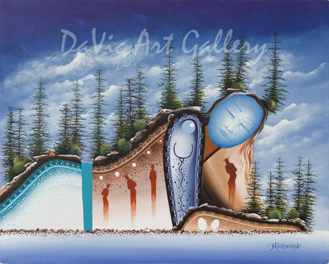 'Dreamer's Cove' Mishmountain by First Nations Ojibway artist James Simon Mishibinijima
