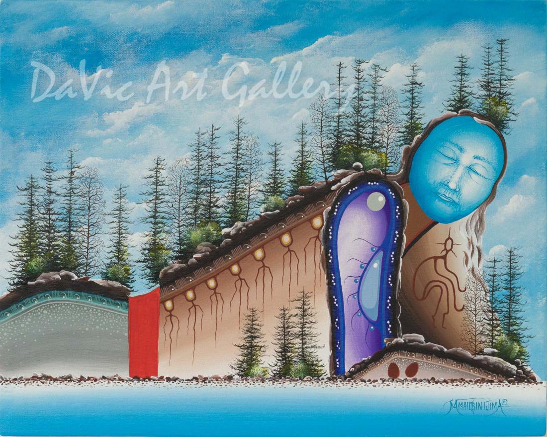 'Dreamer's Rock' Mishmountain by First Nations Ojibway artist James Simon Mishibinijima