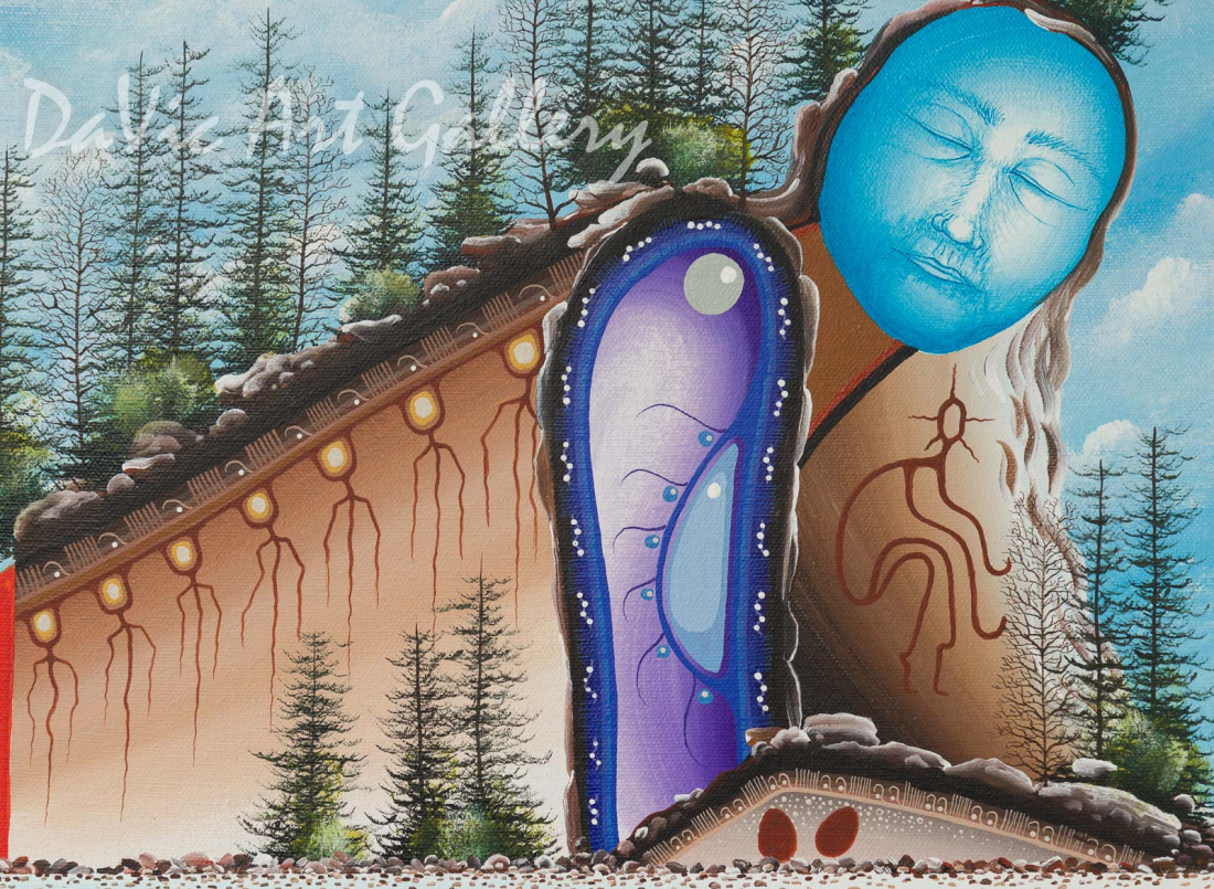 'Dreamer's Rock' by James Mishibinijima - Woodland Art - Mishmountains