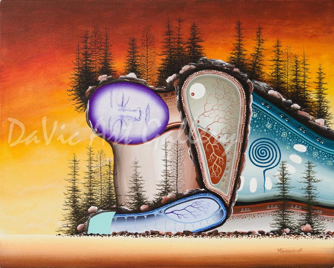 'Fisher Harbour' Mishmountain by First Nations Ojibway artist James Simon Mishibinijima