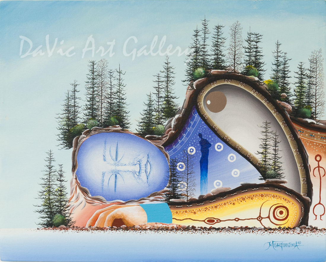 'Little La Cloche' Mishmountain by First Nations Ojibway artist James Simon Mishibinijima