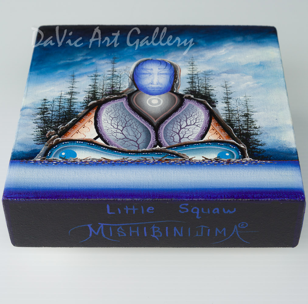'Little Squaw' by James Mishibinijima - Woodland Art - Mishmountains