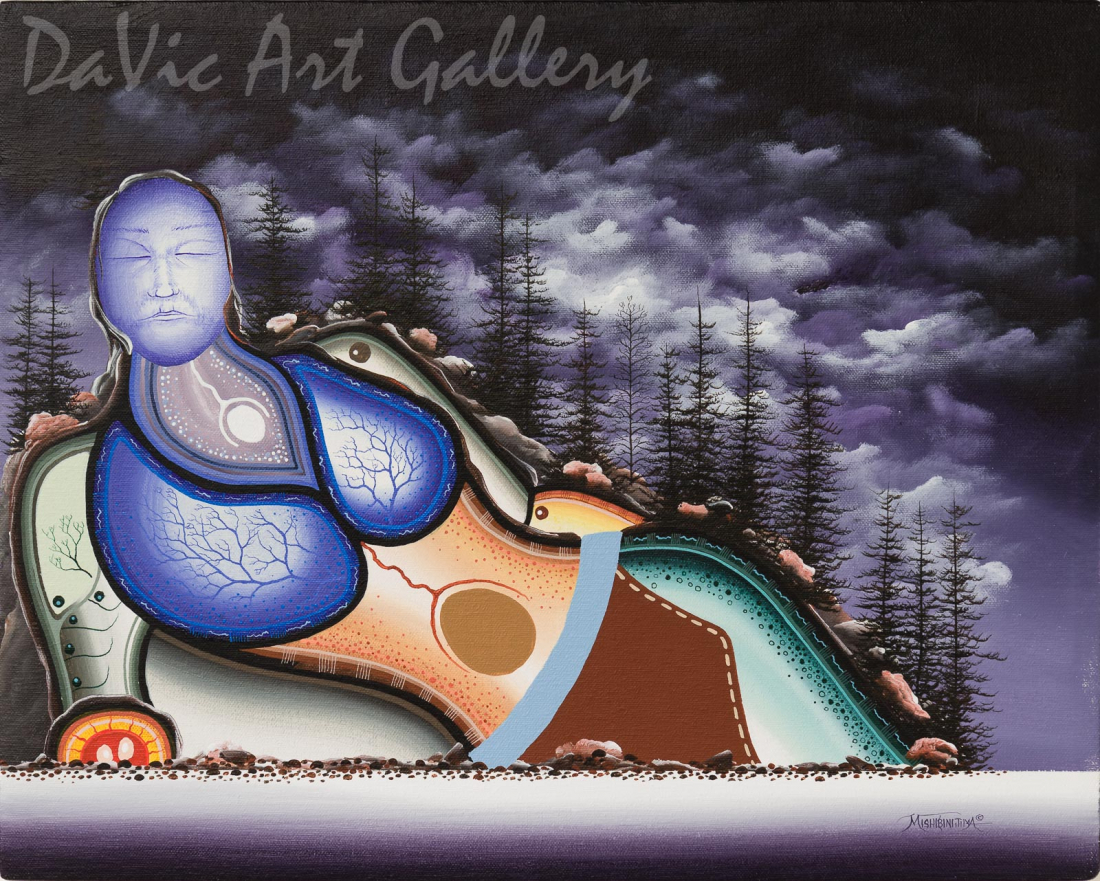 'Logan Bay' Mishmountain by First Nations Ojibway artist James Simon Mishibinijima