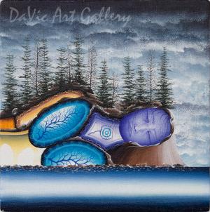 'Philip Edward Island' Mishmountain by First Nations Ojibway artist James Simon Mishibinijima
