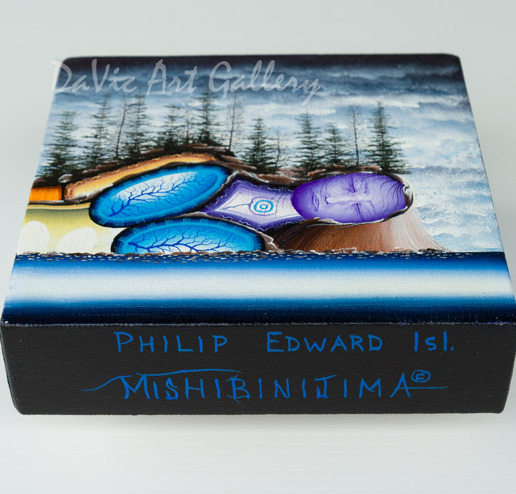 'Philip Edward Island' by James Mishibinijima - Woodland Art - Mishmountains