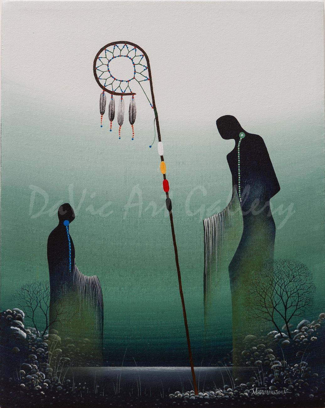 'Wisdom' by First Nations Ojibway artist James Simon Mishibinijima