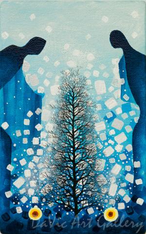 'Tree of Life' by First Nations Ojibway artist James Simon Mishibinijima