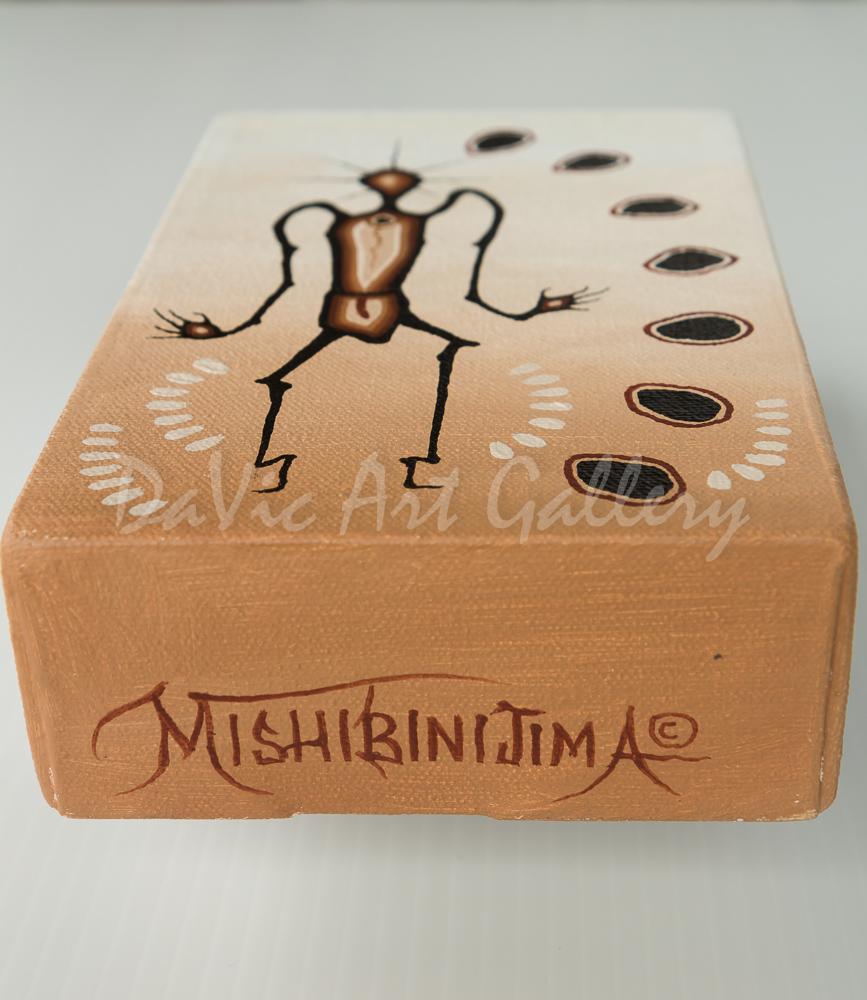 'Understandings' by James Simon Mishibinijima - Woodland Art - Tabletops