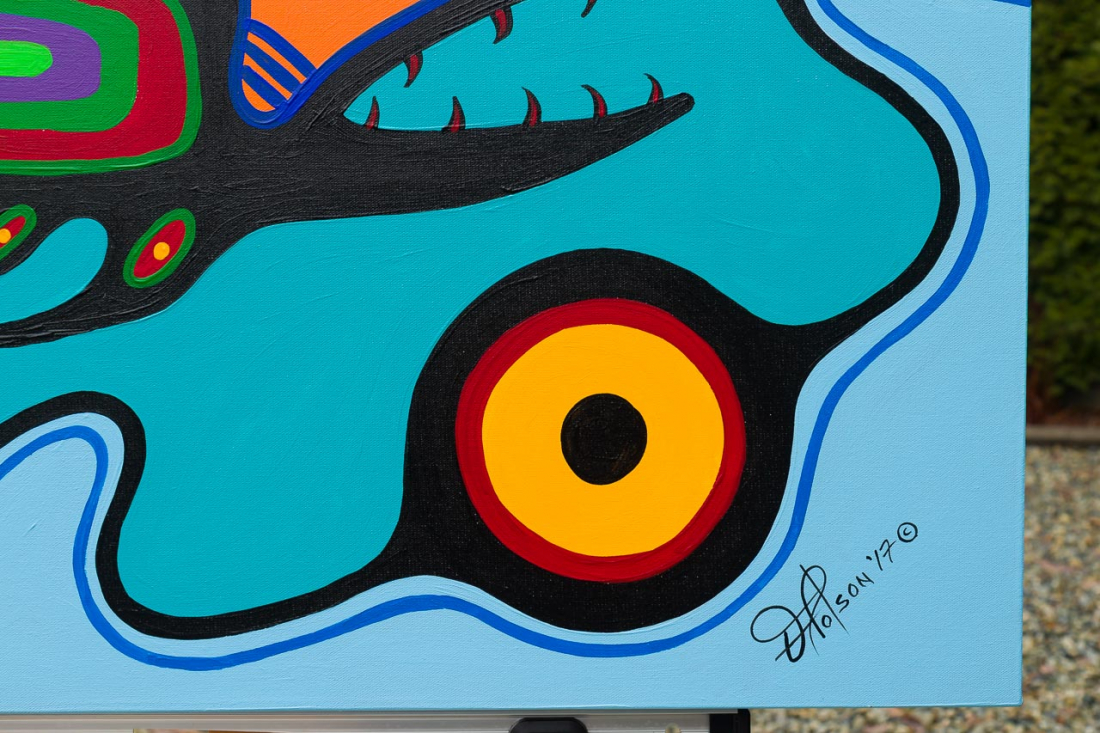 'Fish Clan' by First Nations Algonquin artist Frank Polson