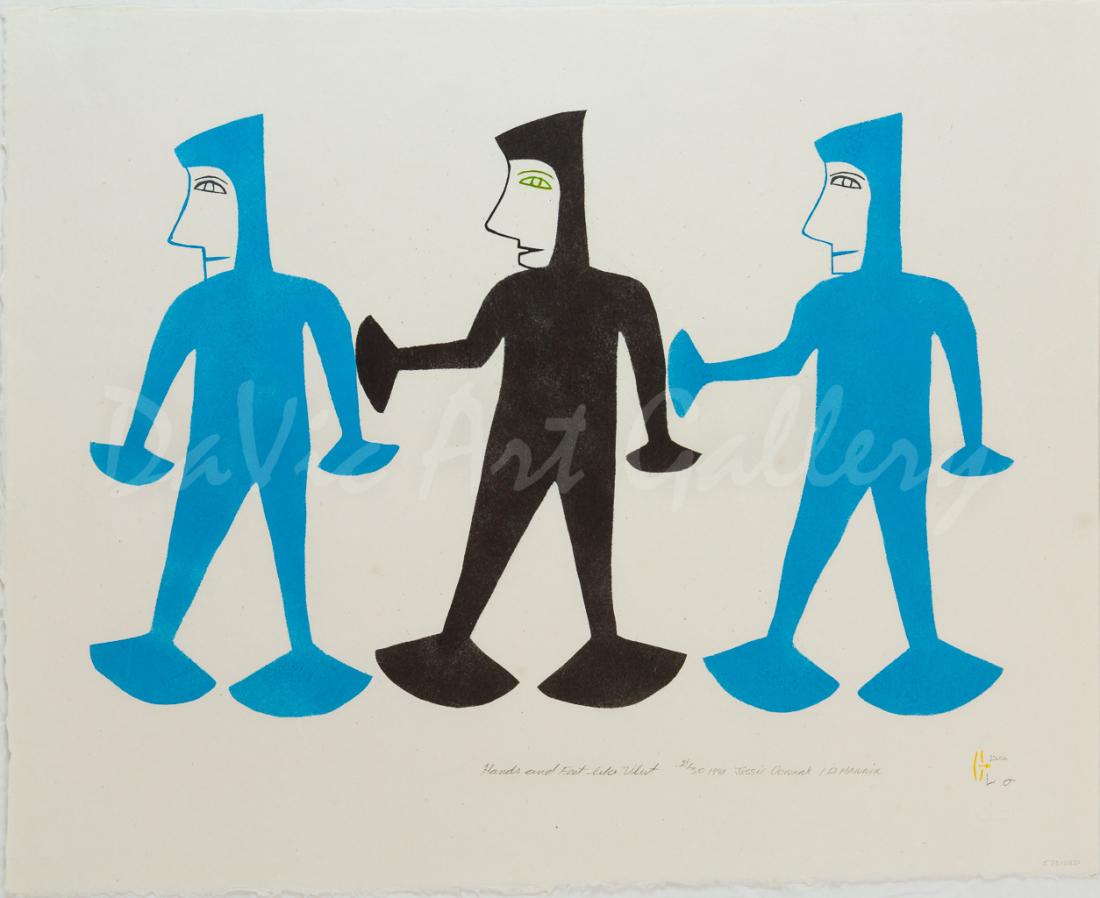 'Hands and Feet Like Ulut' by Jessie Oonark, RCA, OC - Baker Lake 1981