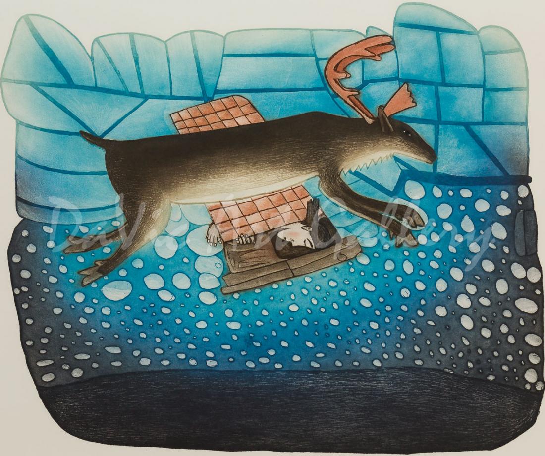 'Counting Caribou' by Kakulu Saggiaktok - Cape Dorset 2017