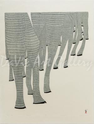 'Caribou Legs' by Ningeokuluk Teevee - Cape Dorset 2017