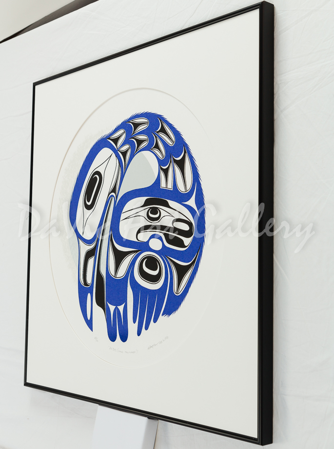 AH-DISS (Crane-Fog Maker) by Northwest Coast artist Art Thomson