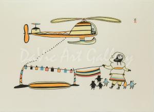 'Qualaguli (Helicopter)' by Pudlo Pudlat - Cape Dorset 1979