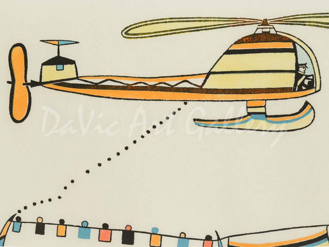 'Qualaguli (Helicopter)' by Pudlo Pudlat - Cape Dorset 1979