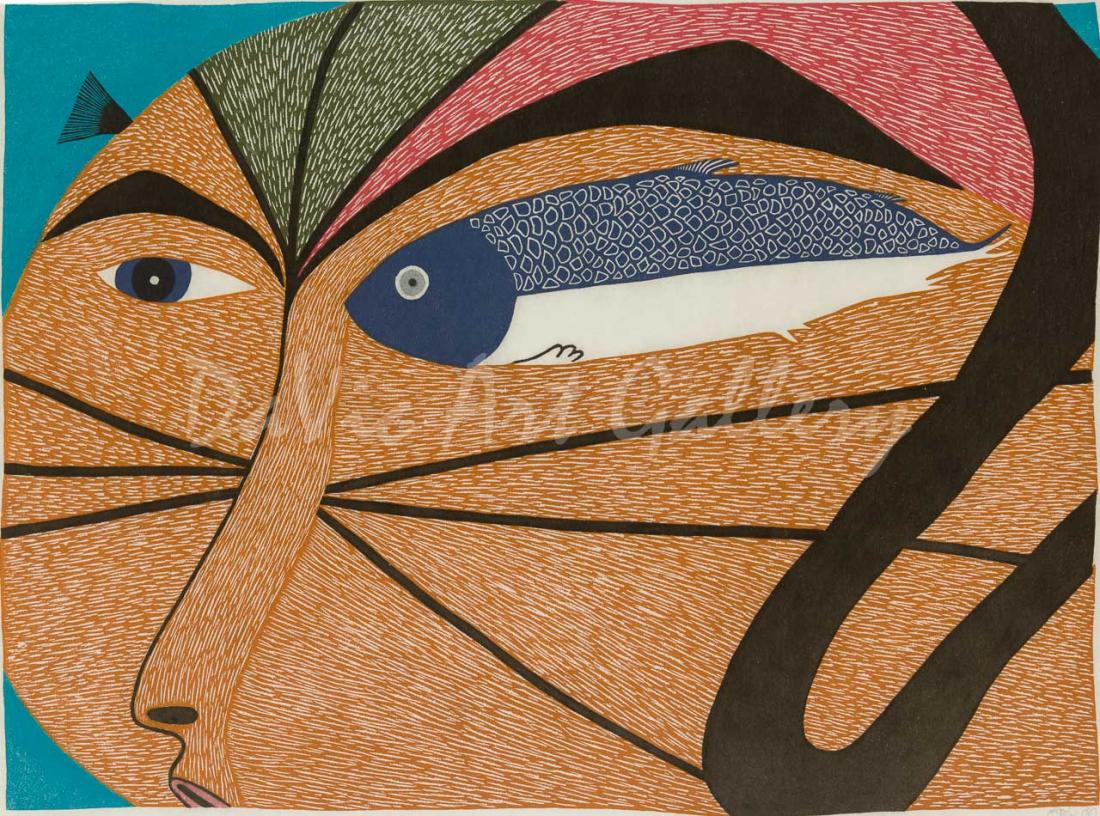 'The Swimmer' by Ningeokuluk Teevee - Cape Dorset 2014