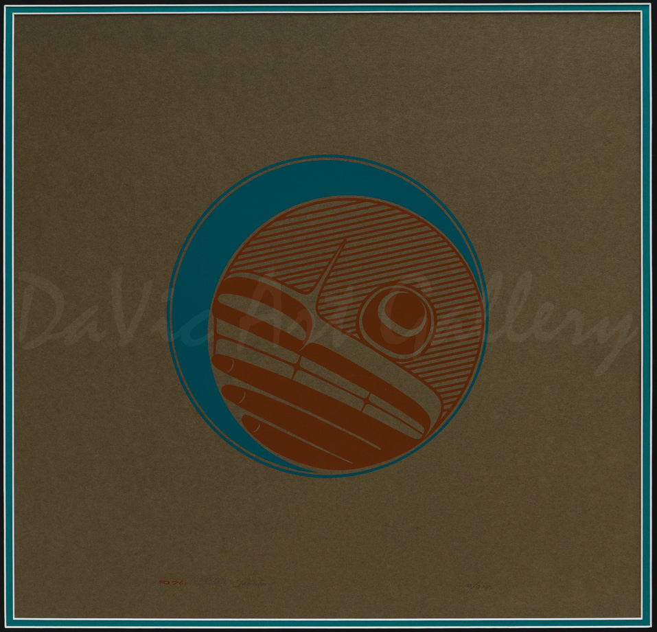 Untitled (Haida Moon Design) by Northwest Coast Haida artist Robert Davidson